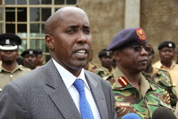 REVEALED: SACKED CS Ole Lenku had WARNED general Nkaissery to Keep off his docket