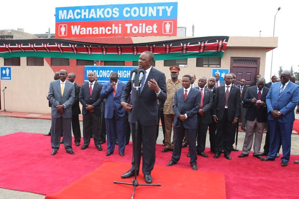 Ruto FURIOUS as STATEHOUSE REDUCES Uhuru to opening Public TOILETS in Machakos