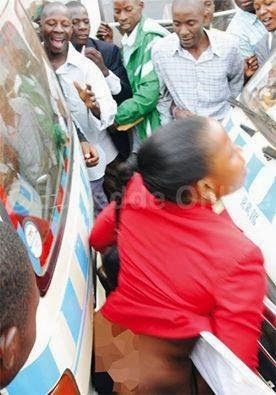 Shock: Another girl STRIPPED NAKED by touts in Mombasa