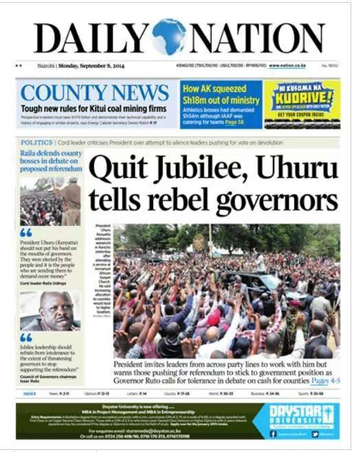 Uhuru and Ruto HYPOCRISY STINKS to high HEAVENS, planting moles in ODM