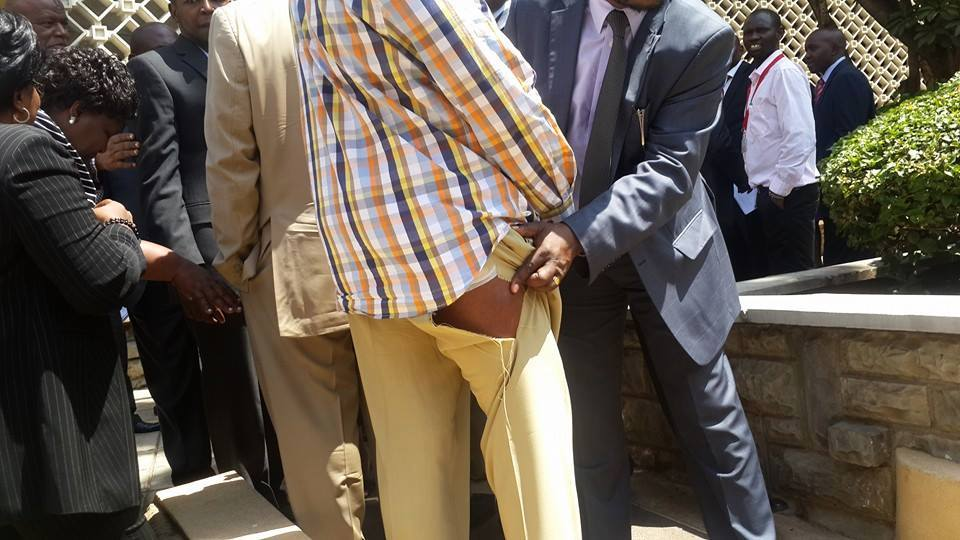 EXCLUSIVE photos: HOW Jubilee MPs in parliament BADLY INJURED Senator Muthama!!!