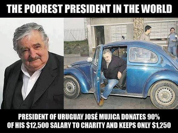"As you Celebrate Your New Year Meet The World's  ""POOREST PRESIDENT"" in 2015"